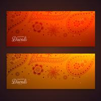 mooie paisley-banners voor diwali festival