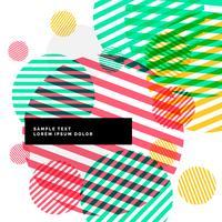 abstrakta färgglada cirklar band bakgrund