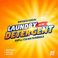 modello di design del pacchetto detergente per bucato