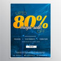 mega sale voucher banner template vector design with offer detai