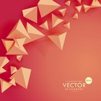 abstract red background with 3d polygon shapes