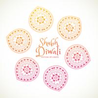 Shubh Diwali tarjeta de felicitación con diseño de Paisley