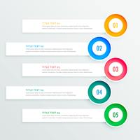 five circular infographic banners