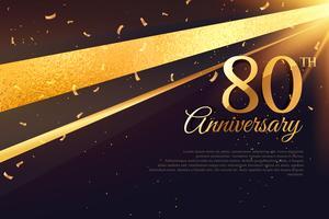 Modèle de carte de célébration du 80e anniversaire