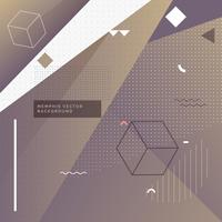 sfondo viola elegante memphis con forme geometriche