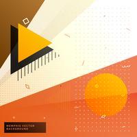 stilvoller warmer Farbe Memphis Hintergrund mit geometrischen Formen