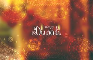 fundo de papel de parede incrível diwali com padrão paisley