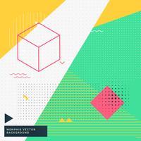 Memphis-Arthintergrund mit abstrakter geometrischer Abbildung