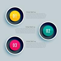 circle infographic design with three steps