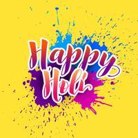 gelukkige holi achtergrond met kleurrijke plons