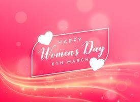 Feier-Hintergrunddesign der schönen Frauen Tages