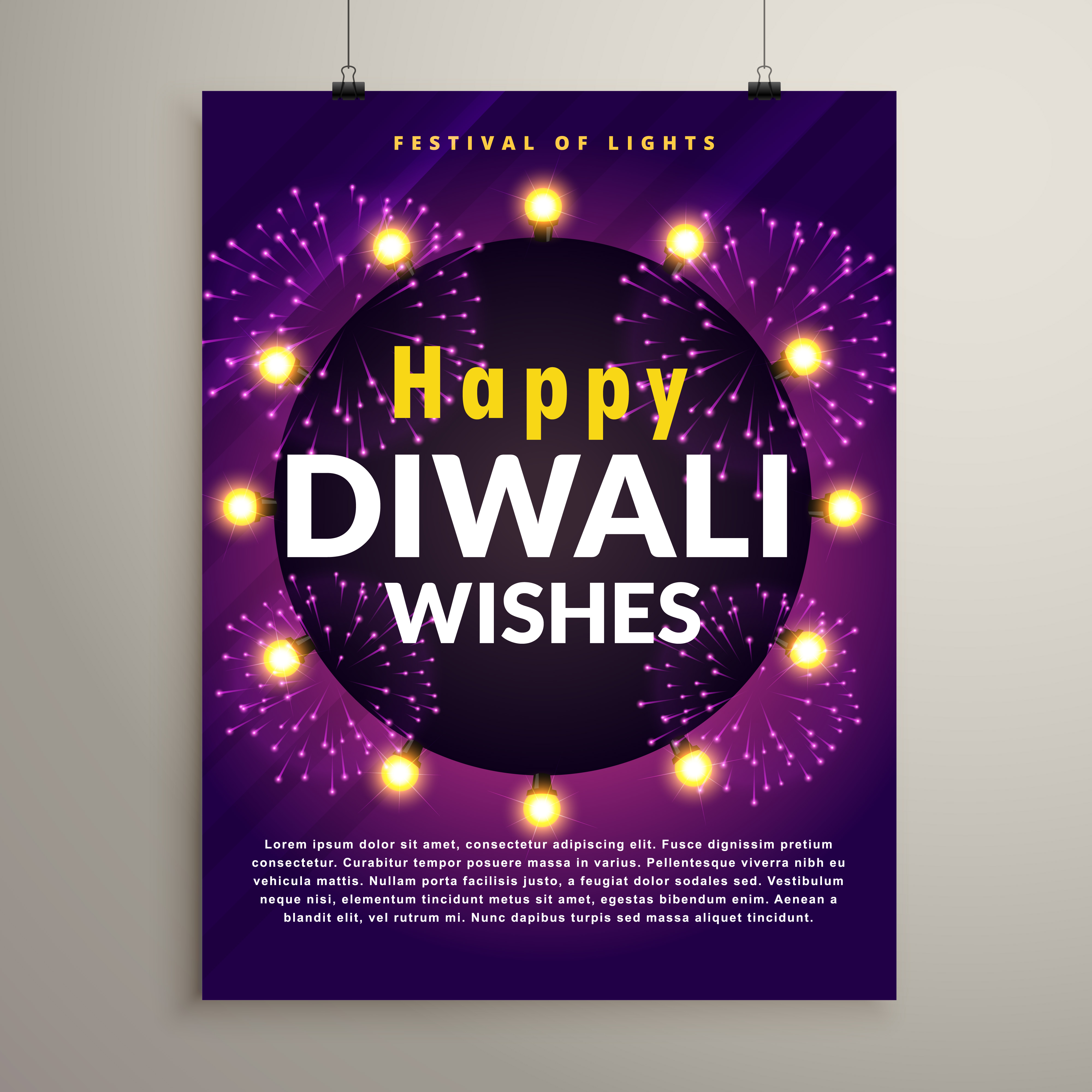 amazing diwali festival flyer design template with fireworks download free vector art stock graphics images