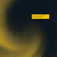 Fondo de puntos de semitono amarillo y negro