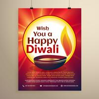 diwali celebration flyer template for the festival. Diwali greet