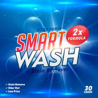 modello di imballaggio per la progettazione di prodotti detergenti per bucato