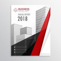 modelo de folheto de brochura vermelho e preto com formas abstratas eb