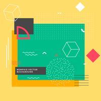 moderner Memphis-Hintergrund mit geometrischen Formen