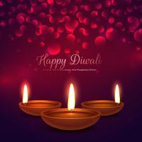 feliz diwali fundo com efeito diya e bokeh