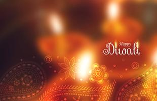 happy diwali festival wallpaper with paisley decoration