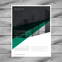design de modelo de folheto mínimo empresa abstrata