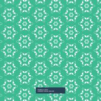 green background with flower pattern