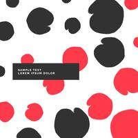 modern pattern with black and red circles