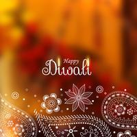 mooie diwali achtergrond met paisley ontwerp
