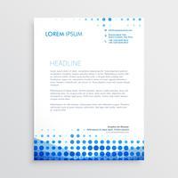 kreative blaue Geschäftsbriefkopfauslegung