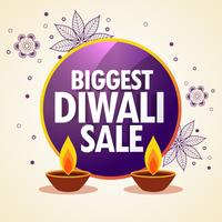diwali sale promotional banner with flower decoration