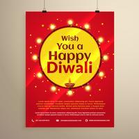 erstaunliche Diwali Festival Flyer Vorlage