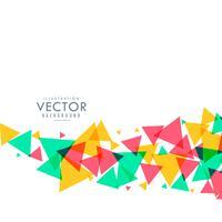 färgglada trianglar vågor bakgrund