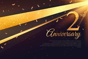 Modèle de carte de célébration 2ème anniversaire