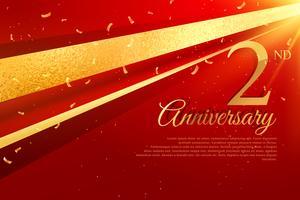 2 ° modello di carta celebrazione anniversario