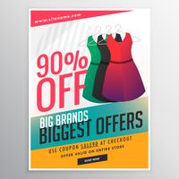 fashion sale discount promotional brochure flyer template with d