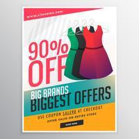 mode försäljning rabatt reklamblad broschyr mall med d