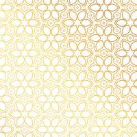 projeto de plano de fundo padrão de flor dourada