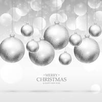 hanging christmas balls background design