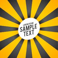 bright yellow rays elegant halftone background