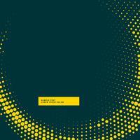 fondo oscuro con efecto de onda de semitono amarillo