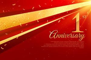 Modèle de carte de célébration 1er anniversaire