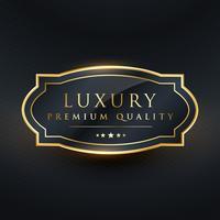 luxe premium kwaliteit vector labelontwerp
