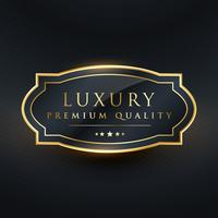 design de rótulo de vetor de qualidade premium de luxo