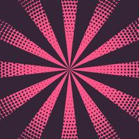 pink rays background with halftone effect