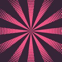 rosa strålar bakgrund med halvton effekt