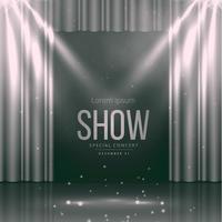 palco de teatro com cortinas