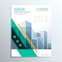 modelo de design de brochura de negócios elegante design de página de capa