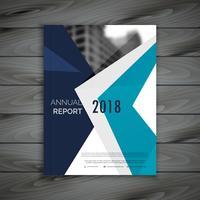 limpar design de modelo de folheto de relatório anual em tamanho A4