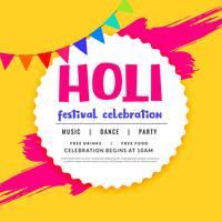 happy holi celebration greeting design background