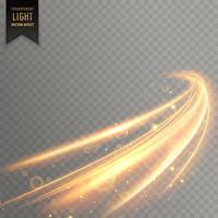 néon transparent effet de lumière dorée fond