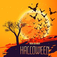 halloween fest bakgrund med flugor fladdermöss